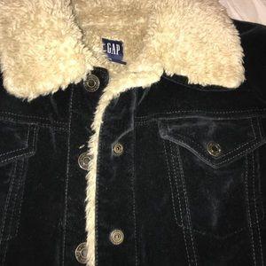 Gap velour type jacket .